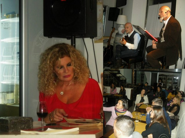 Collage Marella in reading poesia