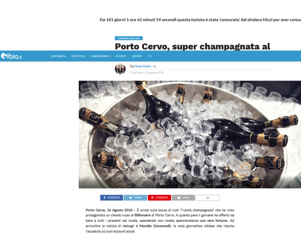 Screenshot 2018-08-16 Porto Cervo super champagnata al Billionaire 104 bottiglie1