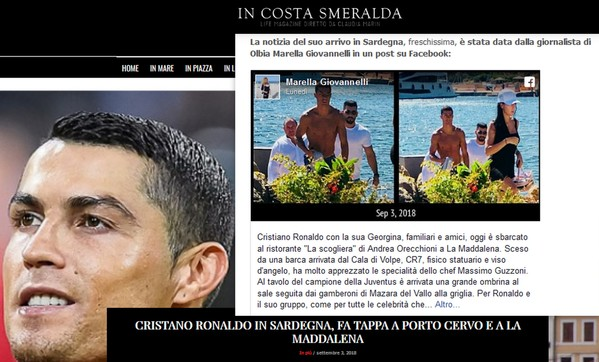 collage ronaldo   cover In Costa Smeralda
